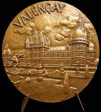 Médaille vue du Château de Valençay armes et blason sc Coutre 1978 medal