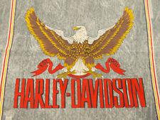 Vtg Antique HARLEY DAVIDSON EAGLE made in USA Cotton Blend Biker BANDANA Hanky