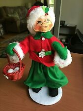 Collectible Annalee Christmas Doll With Basket-2016-Great Condition-See Pics