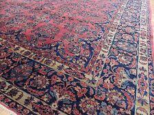 Stunning Oversize Antique Persian Sarough Sarouk Oriental Area Rug 10x14 10x15