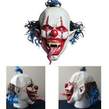 Scary Clown Mask Halloween Creepy Evil Horror Fancy Killer Crazy Adult Party New