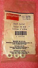 "DAYTON 2X735 Shaft Collar with Set Screw, 1/4"" Bore, 3 Pack"