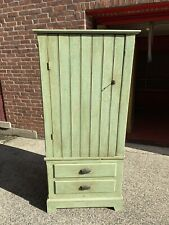 Antique Jelly Cabinet Green Bead Board