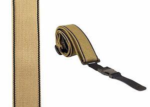 Guitar Strap detachable easy clip Lock ends banjo ukulele Classic Beige comfy UK