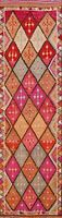 Vintage Geometric Decorative 11 ft Tribal Moroccan Runner Rug Wool 10' 9 x 2' 10