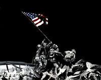 Raising the Flag Print Wall Art 8x10 Country Pride USA America