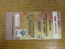 12/10/2014 Cricket Ticket: In Abu Dhabi, Pakistan v Australia [At Zayed Cricket