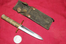 """New listing Old Mini 5"""" Brass Handle Dagger Knife Small Fighting Hideaway Assassins Survival"""