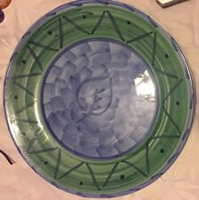 """Caleca ~ Espero ~ Round Serving Platter or Chop Plate ~ 14"""" ~ Italy"""
