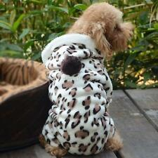 NEW Leopard Pet Puppy Dog Cat Hoodie Coat Outwear Jumpsuit Apparel Clothes M