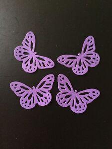 25 Cadburys Purple butterflies wedding crafts, scrapbooking, table confetti