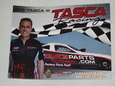 2017 BOB TASCA III TASCA PARTS.COM FUNNY CAR NHRA POSTCARD