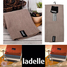Ladelle Microfibre Glass Cloth Tea Towels | Super Absorbent | Stone