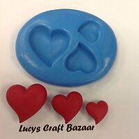 Silicone Mould Love Hearts Wedding Marriage Valentines Romantic Cup Cake Topper