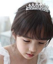Children's Girls Bridal Wedding Tiara Evening Sparkling Diamante Prom Tiara Comb