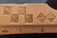 012-05 FISH BONE decor Brass Leather Stamp Saddlery Tool Punch