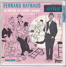 FERNAND RAYNAUD 45T INSPECTEUR DES PLATANES Languette