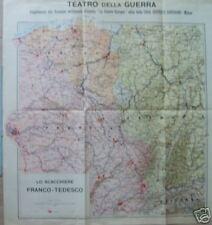MILITARIA_GUERRA EUROPEA_FRONTE FRANCO-TEDESCO_MAPPA