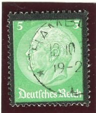 GERMANY;    1934 early Hindenburg memorial issue fine used 5pf. value