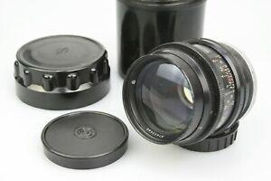 Excellent JUPITER 9 Lens 85mm f/2 for CONTAX RANGEFINDER / KIEV 1974 +caps +Case
