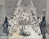 Vintage Freemason Secret Society Painting 8x10 Real Canvas Giclee Art Print New