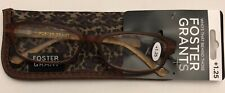 FOSTER GRANT LADIES READING GLASSES W/ CASE- CYNTHIA BROWN +1.25 ONLY- $6.99 EA