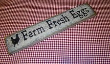 """Rustic Primitive Sign """"Farm Fresh Eggs"""" Country Home Farmhouse weathered wood"""