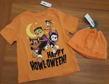 NEW Old Navy 12-18 MONTHS Paw Patrol HALLOWEEN T-Shirt & Pumpkin Hat #3211217