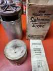 Vintage WWII 1945 US Coleman Model 520 Stove w/ Original Box, Canister & Funnel