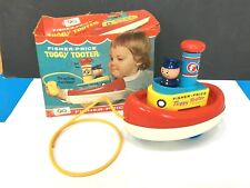 Vintage Baby Child Toy 1967 Fisher Price Tuggy Tooter