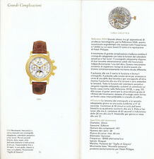 Patek Philippe original 2001 140 pages catalogue E594