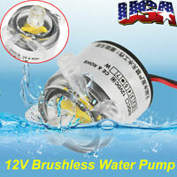 Mini 12V DC 6W Food Grade Submersible Brushless Water Pump 2L/min Low Noise