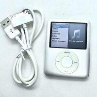 Apple iPod Nano 3ème Génération 4go gris silver A1236 + Câble neuf