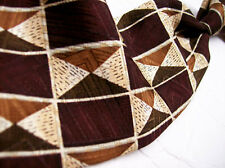 ROBERT TALBOTT BROWN  Geo Abstract  100 SILK Necktie s 8-311