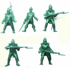 Set of 5 French Infantry Napoleonic Wars Plastic Toy Soldier 1/32 TEHNOLOG 54 mm