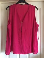 George Floaty Cerise Top, Size 22 - Gorgeous!