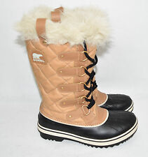 Sorel Women's Tofino Cate Snow Cold Weather  Boot NL 1937-374 Sz 6.5 Curry Black