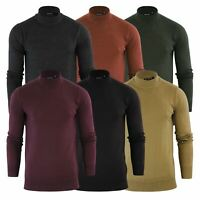 Mens Jumper Brave Soul Turtle Neck Cotton Pull Over Sweater