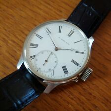 Antique H.MOSER & Cie custom wristwatch 1889 original Swiss caliber dial crown