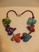"22"" Handmade Custom Heart Necklace by Zecca - Polymer Clay Millefiore"
