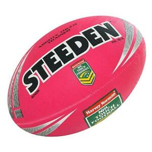 Steeden NRL Mighty Touch Trainer Ball - Rugby League Football in Pink- Football