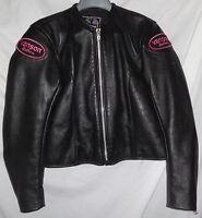 VANSON LEATHERS Womens Ladies ACE LACE Motorcycle Biker Jacket Sz 14