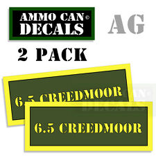 6.5 Creedmoor Ammo Can Box Decal Sticker bullet ARMY Gun safety Huntin 2pack AG