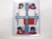 2014-15 UD Frozen Foursome Team Canada Benn Staal Authentic Jersey Card jh1