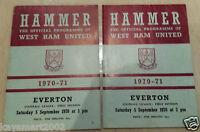 1970/71 Football League- WEST HAM UNITED v EVERTON - 5th September