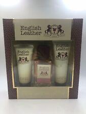 Authentic English Leather By Dana 3 pc Gift Set body splash 3.4, body wash