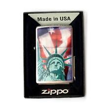 ACCENDINO BENZINA ANTIVENTO ZIPPO STATUE LIBERTY 28282 LIGHTER MADE USA