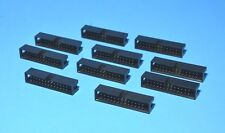 10 x IDC Flat Cable 26-Pin PCB Male connectors (2 x 13), Fast ship from USA
