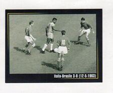 figurina SUPER ALBUM IN AZZURRO LA GAZZETTA DELLO SPORT NUMERO 42 ITALIA-BRASILE