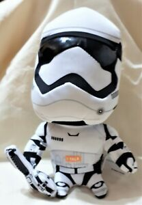 """Star Wars 8"""" STORMTROOPER BRAND NEW  DEMO BATTERIES RUN OUT SO SOLD AS PLUSH TOY"""